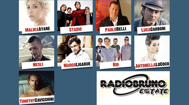 Luca Carboni ospite di Radio Bruno Estate a Mantova