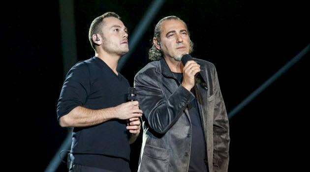 Luca Carboni e Tiziano Ferro a X factor
