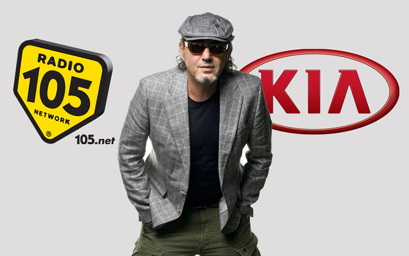 Luca Carboni a Limone Piemonte per il KIA TOUR di RADIO 105