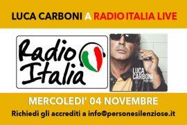 Luca Carboni a Radio Italia Live 4 novembre