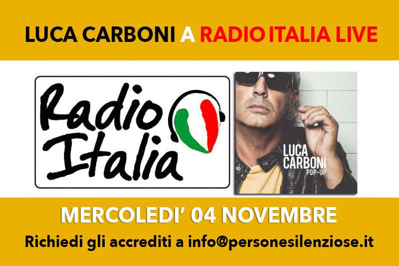 Luca Carboni a Radio Italia Live: richiedi gli accrediti