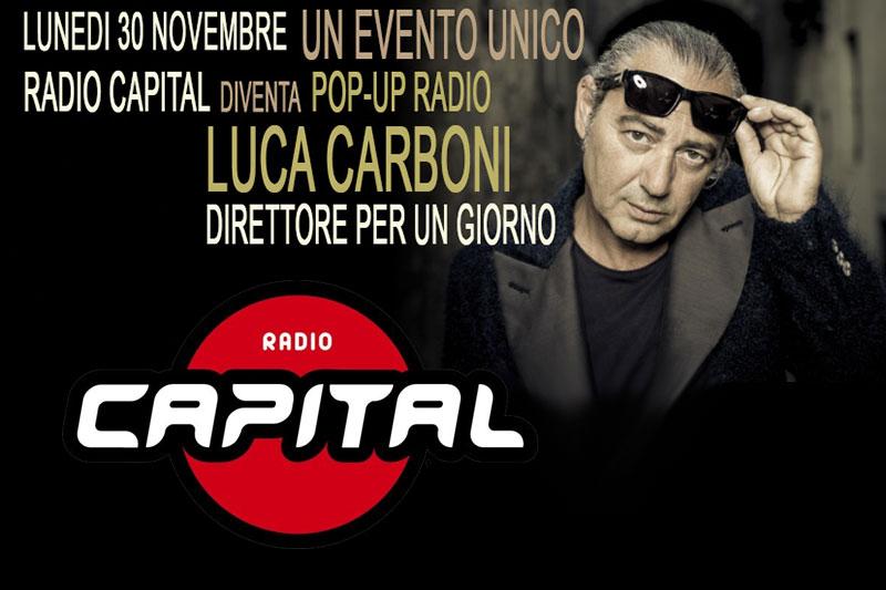 Luca Carboni direttore di Radio Capital per un giorno