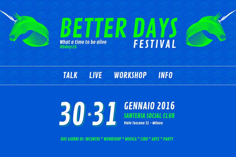 Luca Carboni al Better Days Festival di Milano