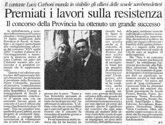 Luca Carboni a San Benedetto del Tronto, 2002
