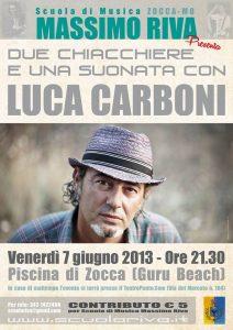 Luca Carboni a Zocca per Massimo Riva