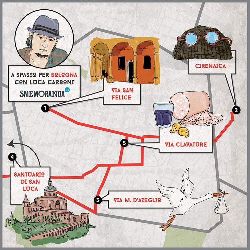 piantina bologna di Luca Carboni
