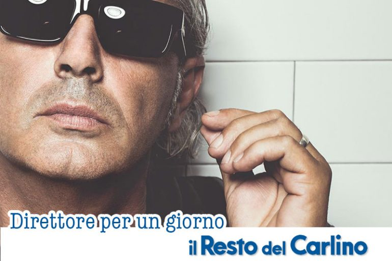 Luca Carboni direttore per un giorno del Carlino