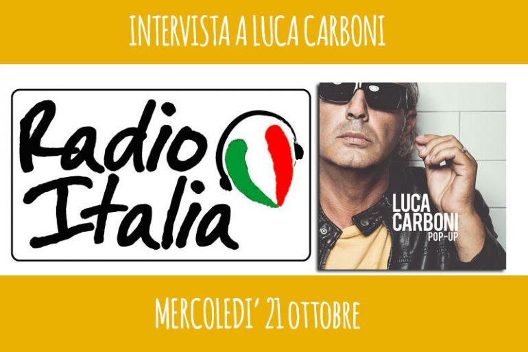 luca carboni intervista a Radio Italia