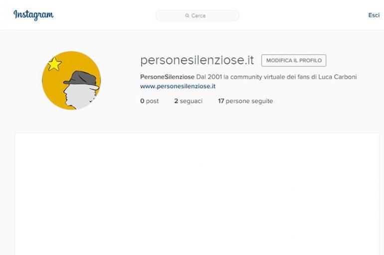 personesilenziose.it su instagram