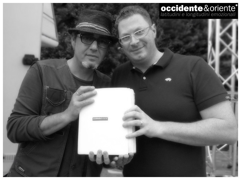 Luca Carboni e Mirco Di Marcello con il book occidente&oriente*